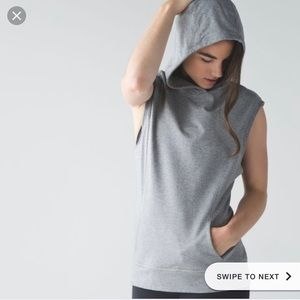 Lululemon blissed out sleeveless hoodie